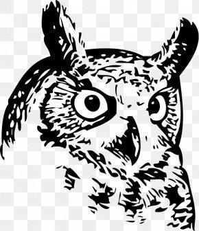 Owls - Great Horned Owl Bird Snowy Owl Clip Art PNG
