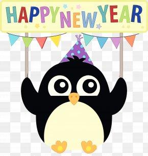 Party Hat Penguin - Party Hat PNG