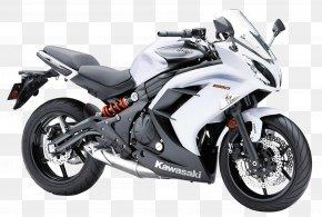 Kawasaki Ninja 650 White Sport Motorcycle Bike - Kawasaki Ninja ZX-14 Kawasaki Ninja 650R Kawasaki Motorcycles PNG