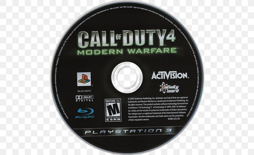 Call Of Duty 4: Modern Warfare Compact Disc Game Personal Computer Computer Hardware, PNG, 500x500px, Call Of Duty 4 Modern Warfare, Brand, Call Of Duty, Call Of Duty Advanced Warfare, Call Of Duty Black Ops 4 Download Free