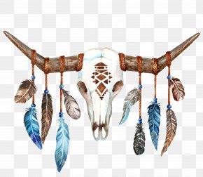 Sheep Skull - Texas Longhorn Skull Bull Boho-chic PNG