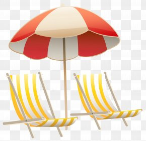 Beach Umbrella And Chairs Clipart Image - Chair Umbrella Beach Clip Art PNG