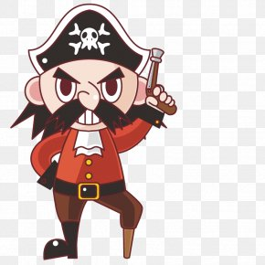 Vector Character Pirate - Piracy Cartoon Illustration PNG