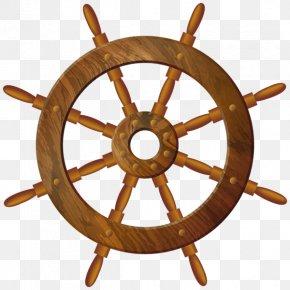 Wheel - Ship's Wheel Maritime Transport Sailboat PNG