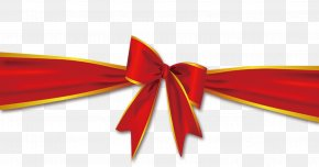 Ribbon Bow - With Ribbon Red PNG