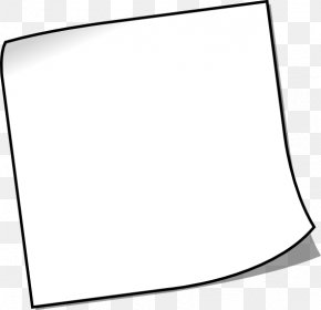 Sticky Note - Black And White Line Art Post-it Note PNG