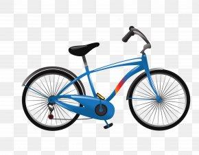 Vector Blue Bike Mountain Bike - Cruiser Bicycle Bicycle Frame BMX Single-speed Bicycle PNG