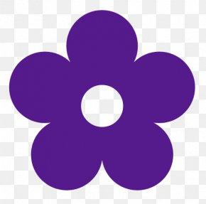 Purple Flower Clipart - Purple Flower Free Content Clip Art PNG