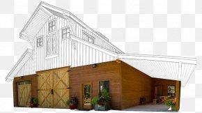 Barn Garage - Barn Pole Building Framing Roof House PNG