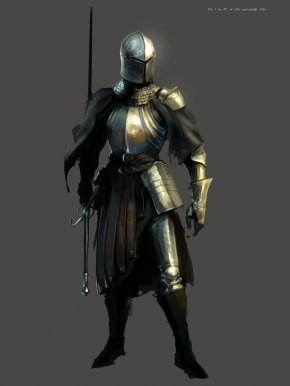 Knight - Concept Art Knight Drawing Idea PNG