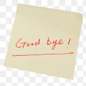 Goodbye Label Sticker - Paper Rectangle Font PNG