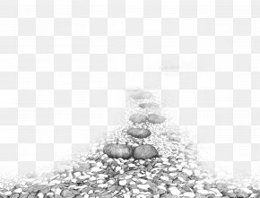 Black And White Stone Road - Black And White Drawing Computer File PNG