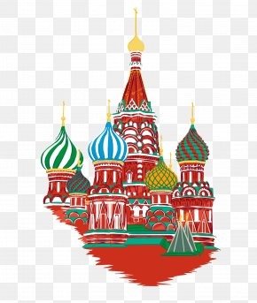 Painted St. Vasily Cathedral Vector Material - Moscow 2014 Russian Military Intervention In Ukraine English Flag Of Russia PNG