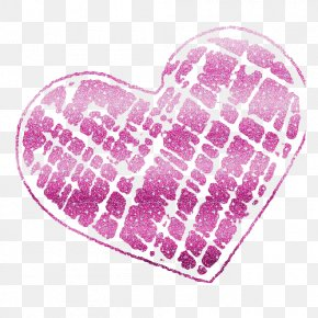 Glitter Line Cliparts - Heart Glitter Clip Art PNG