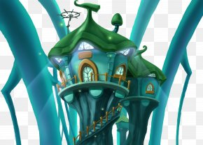 Mysterious Blue House Illustration Free Creative - Computer Graphics Illustration PNG