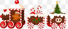 Train - Train Santa Claus Clip Art Christmas PNG