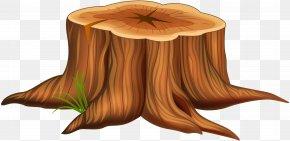 Tree Stump Clip Art Image - Tree Stump Cartoon Illustration PNG