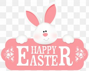 Happy Easter With Bunny Clipart Image - Easter Bunny Clip Art PNG