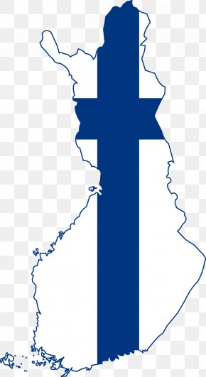 Country - Flag Of Finland Map National Flag PNG