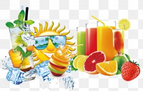 Free To Pull The Summer Drinks Decorative Patterns - Juice Fruit Red Drink PNG