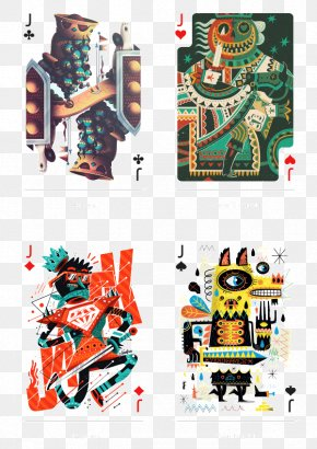 Creative Visual Design Cards J - Playing Card The Arts Standard 52-card Deck Uno PNG