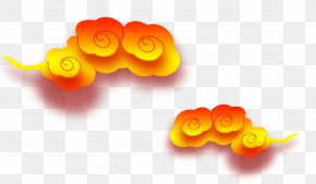Yellow Clouds Effect Element - Yellow Download Icon PNG