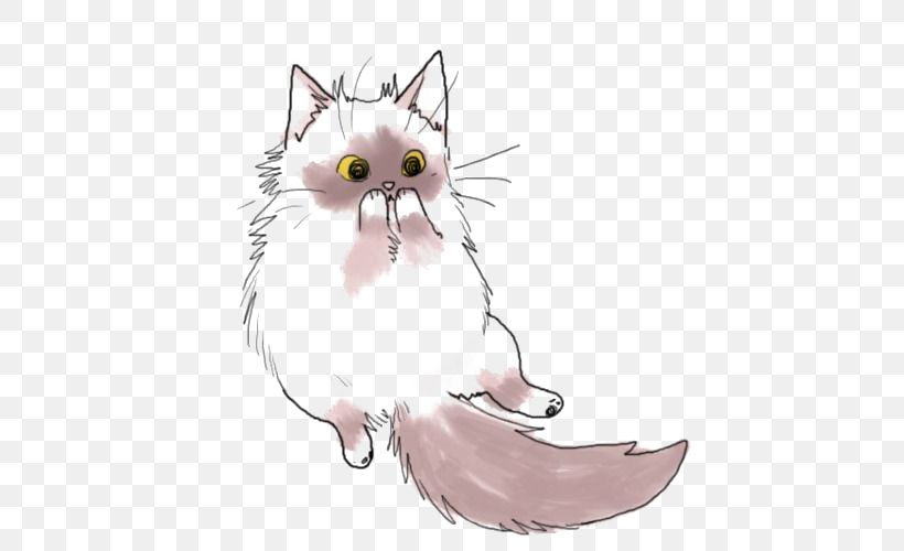 Cat Kitten Drawing Cuteness Clip Art Png 500x500px Watercolor Cartoon Flower Frame Heart Download Free