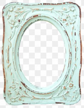 Aqua Frame - Picture Frames Paper Shabby Chic Watercolor Painting PNG