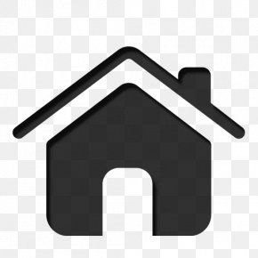 Black Home Icon - Home Clip Art PNG