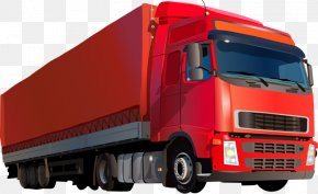 Big Red Truck - Car Commercial Vehicle Truck PNG