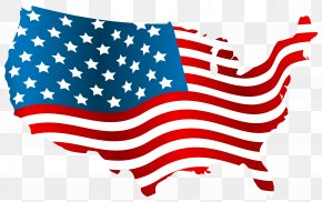 USA Flag Map Clip Art Image - Flag Of The United States Map Clip Art PNG