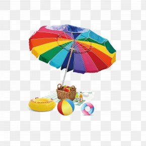 Parasol - Beach Summer Illustration PNG