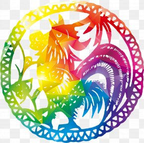 Chinese Style Chicken Patterns - Chicken Chinese Zodiac Clip Art PNG
