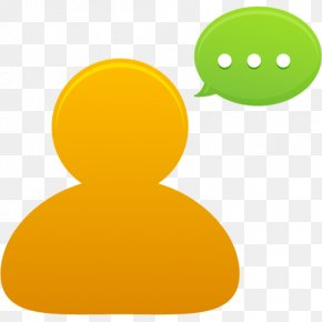 Bubble Comment - Yellow Orange PNG