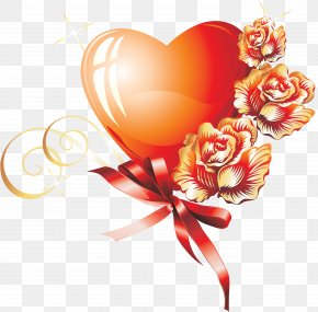 Lovely - Drawing Flower Heart Clip Art PNG