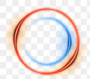 Orange Circle Light Effect Element - Circle Area Blue Brand Pattern PNG