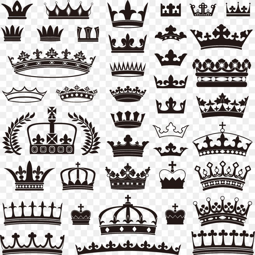 Crown Stock Illustration Royalty-free Stock Photography, PNG, 1864x1864px, Crown, Black And White, Brand, Label, Monochrome Download Free