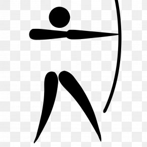L Vector - Summer Olympic Games Archery Pictogram Bow And Arrow Clip Art PNG