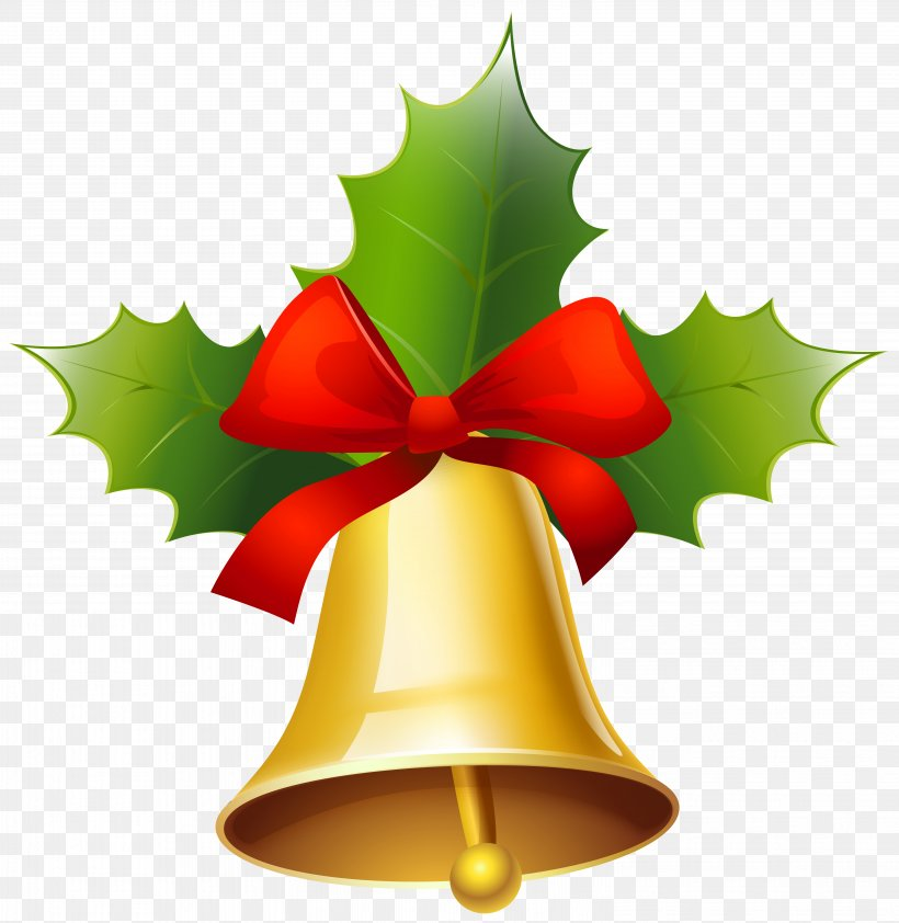 Christmas Jingle Bell Clip Art, PNG, 6007x6171px, Christmas, Aquifoliaceae, Art, Bell, Christmas Decoration Download Free