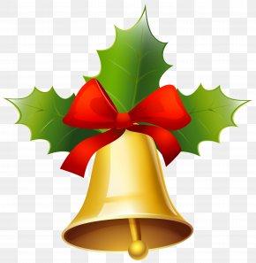 Golden Christmas Bell Clipart Image - Christmas Jingle Bell Clip Art PNG