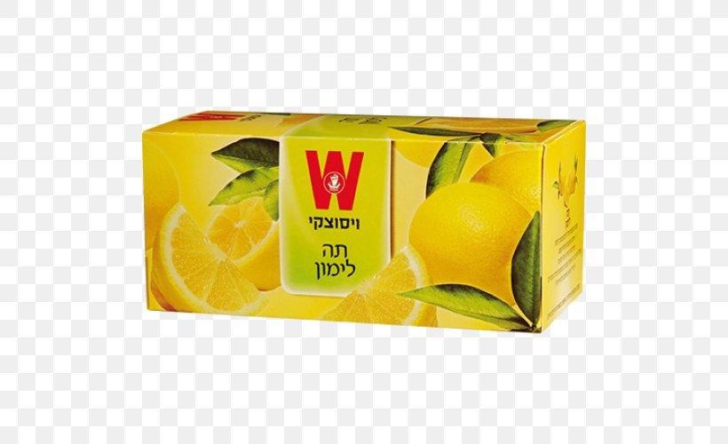 Lemon Wissotzky Tea Lime Orange Drink, PNG, 500x500px, Lemon, Brand, Citric Acid, Citrus, Citrus Junos Download Free