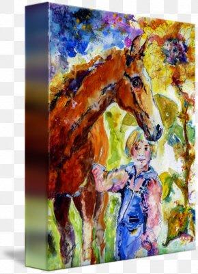 Watercolor Painting Horse - Watercolor Painting Taj Mahal Art Canvas Print PNG