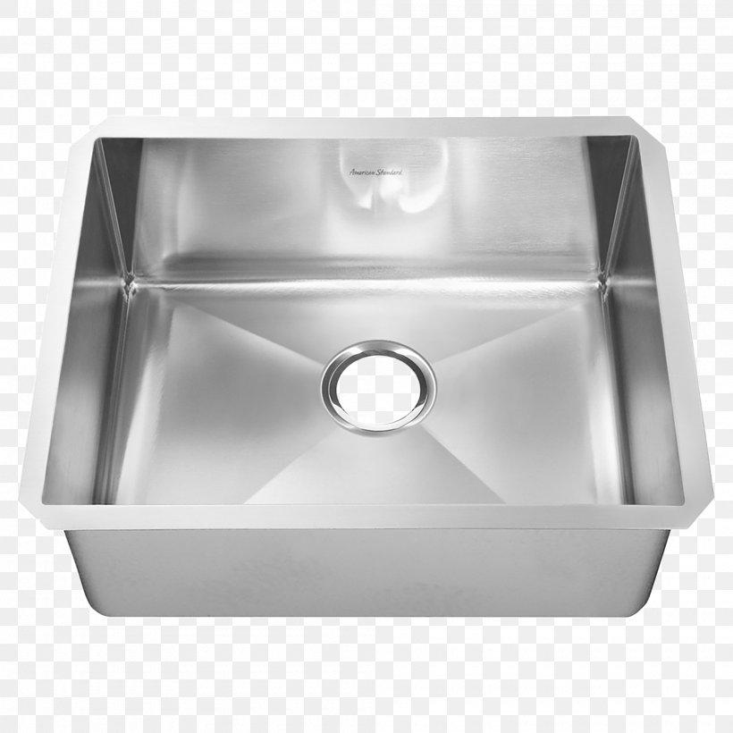 Kitchen Sink Stainless Steel Brushed Metal, PNG, 2000x2000px, Sink, American Standard Brands, Bathroom Sink, Bowl Sink, Brushed Metal Download Free