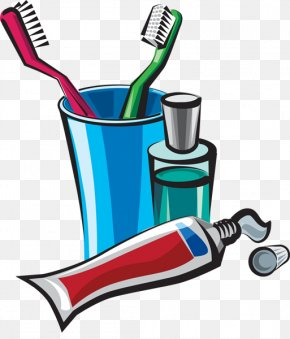 Toiletries Cliparts - Mouthwash Toothbrush Toothpaste Tooth Brushing Clip Art PNG