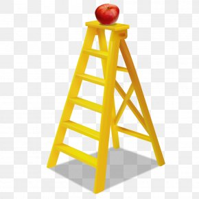 Free Yellow Ladder To Pull The Material - Ladder Stairs PNG