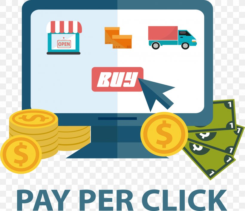 Internet Pay-per-click Online Advertising Marketing, PNG, 1971x1704px, Flat Design, Area, Brand, Clip Art, Communication Download Free