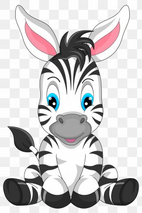 Cute Zebra Cartoon Clipart Image - Cartoon Zebra Clip Art PNG
