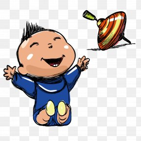 Vector Happy To Play - Infant Child Cartoon Clip Art PNG