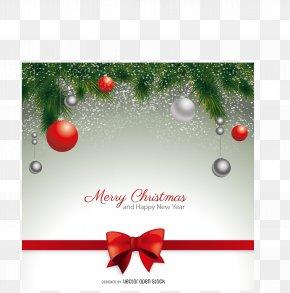 Vector Christmas Greeting Card - Christmas Card Postcard Santa Claus Wedding Invitation PNG