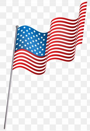 American Waving Flag Clip Art - Flag Of The United States Clip Art PNG